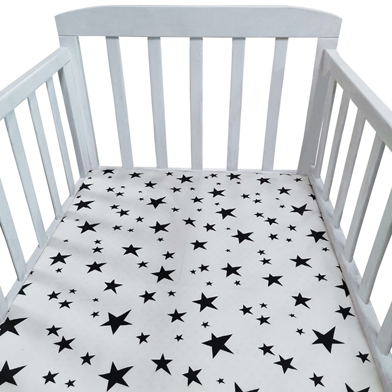 Baby Crib Cotton Flat Sheet Soft Baby Bed Mattress Cover Protector Cartoon Newborn Bedding For Cot Baby Bed Sheet Baby Bedding