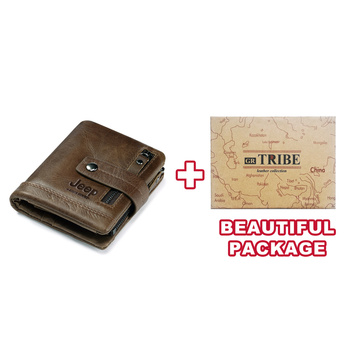 HUMERPAUL Genuine Leather Wallet Fashion Men Coin Purse Small Card Holder PORTFOLIO Portomonee Male Walet for Friend Money Bag 9