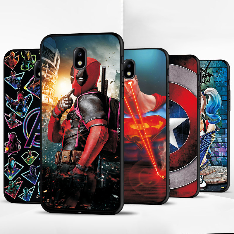 Black TPU Case For <font><b>Samsung</b></font> <font><b>Galaxy</b></font> A10 <font><b>A20</b></font> E A30 A40 A50 A60 A70 Marvel Avengers Phone Cover For <font><b>Samsung</b></font> A30S A50S M10 M40 Case image