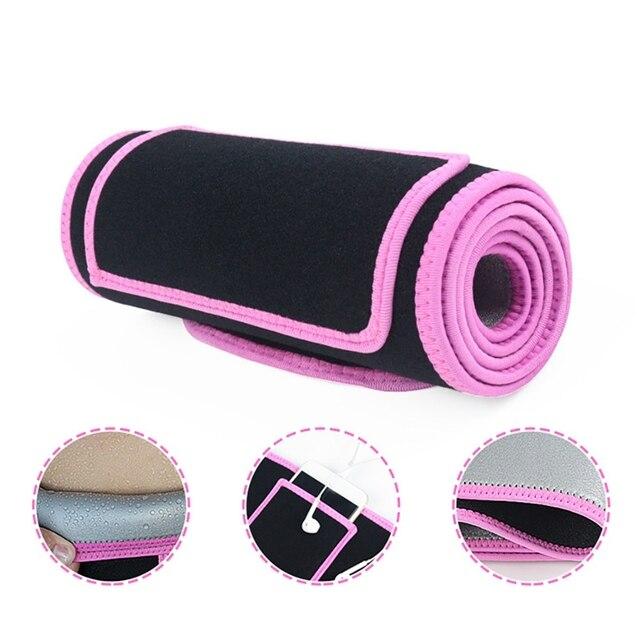 Adult Utility Training Waist Support Gym Belt Adjustable Sweat Belt Practical Fitness Waist Trimmer Belt Sweat Wrap Sport Gear 4