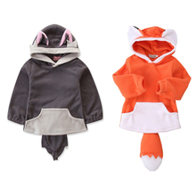 2019 Child Baby Boy Girl Jacket Outwear Coats Fox Hooded Kids Clothing Costume kawaii Children Outerwear new Cape Clothes