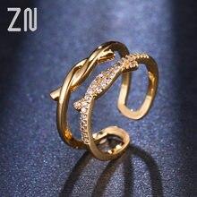 Новые модные ювелирные изделия zn регулируемого размера с микрозакрепкой