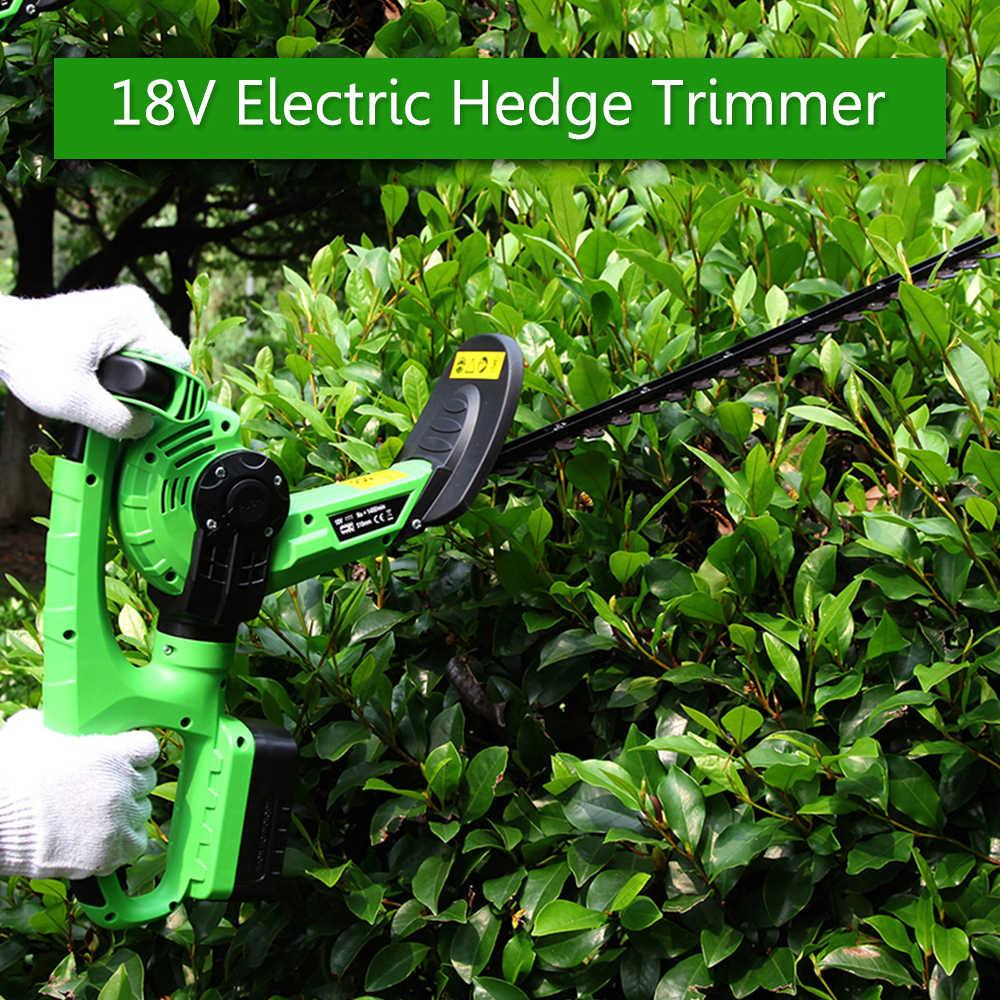 ET1305 נטענת חשמלי 18V גידור גוזם אלחוטי גזירה דשא חשמלי מכסחת דשא כלי גינון עם 14mm שטח שן
