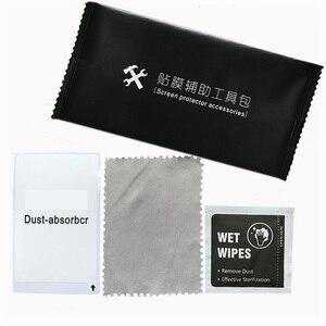 Image 4 - Proteggi schermo in vetro temperato obiettivo della fotocamera schermo del telefono rimozione della polvere salviette per la pulizia a secco e umido Set di strumenti di carta confezione di alcol