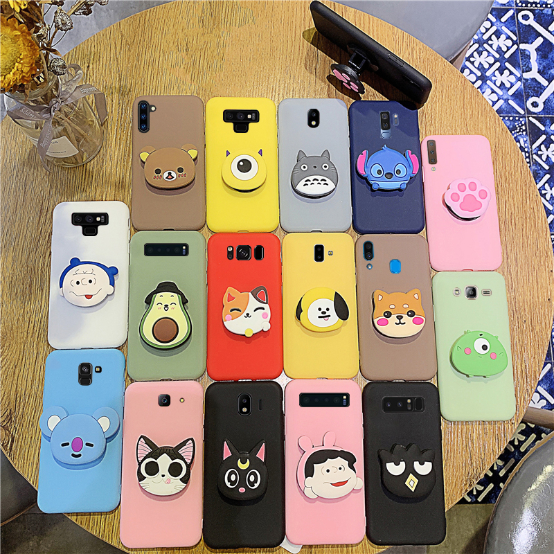 Silicone Phone <font><b>Case</b></font> on For <font><b>Samsung</b></font> Galaxy S10 S10e S10 Plus S9 S8 <font><b>S7</b></font> S6 <font><b>Edge</b></font> Cover Cartoon Cute Holder Shell image