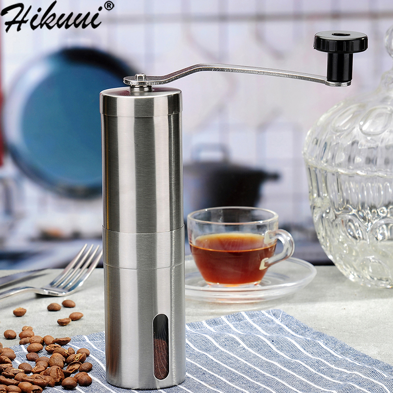 Manual Coffee Grinder Coffee Bean Grinding Stainless Steel Ceramic Mechanism Adjustable Burr Coffe Grinder Mill Coffee Tools