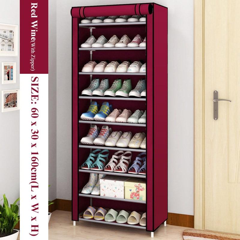 Hot Simple Shoe Rack Non-Woven Dustproof Storage Shoe Cabinet Shoemaker Storage Bag Space Saving Shoe Storage 6