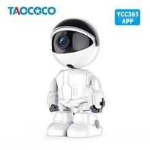 1080P inteligentny Robot kamera aparat IP HD kamera WiFi bezprzewodowy niania elektroniczna Baby Monitor detekcja ruchu noc wizja kamera ochrony YCC365 aplikacji