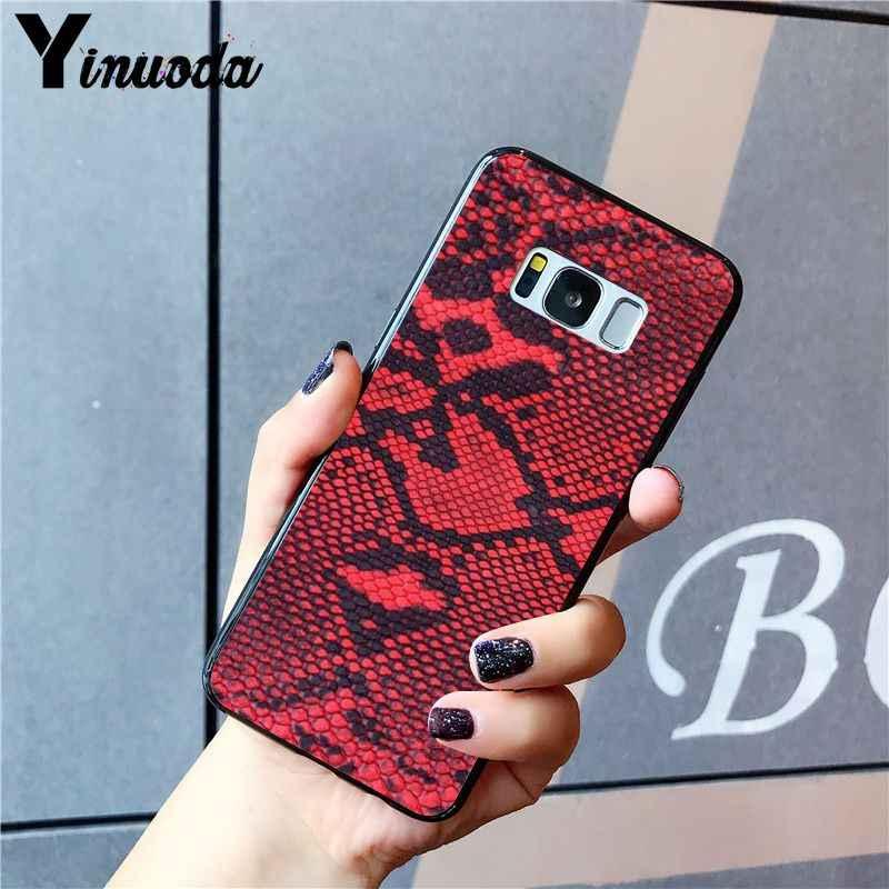 Yinuoda נחש עור DIY הדפסת ציור מקרה טלפון עבור Samsung Galaxy S20 S10 בתוספת S10E S6 S7 S8 S9 S9Plus