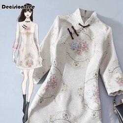 2020 chinesischen stil vintage frauen kleider cheongsam kleid traditionellen chinesischen kleid qipao frauen chinesischen cheongsams kleid