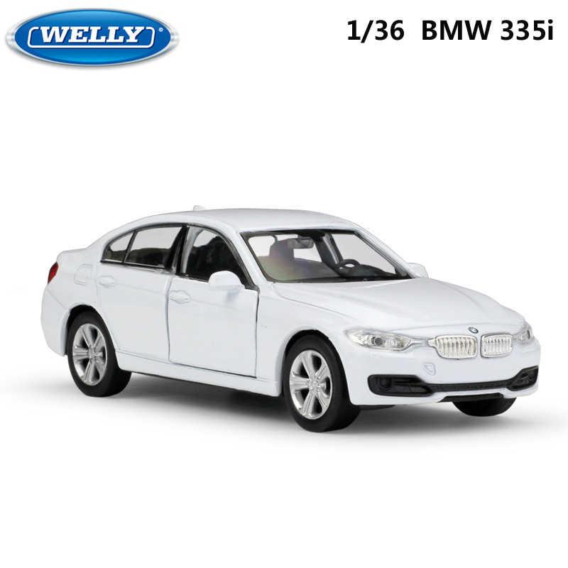 WELLY Diecast 1:36 Scale ของเล่นรถ BMW 335i รถดึงกลับรถของเล่นโลหะของเล่นรถสำหรับเด็กของขวัญคอลเลกชัน