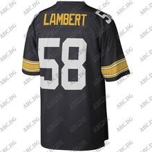 Men Women Kid Youth Pittsburgh Jack Lambert Mitchell & Ness Black Legacy Jersey