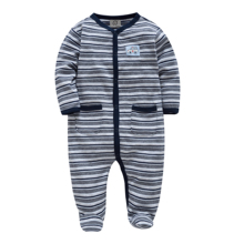 Honeyzone/комбинезон для маленьких мальчиков; мягкий хлопок; Bebe; дизайн; полосатая одежда для новорожденных