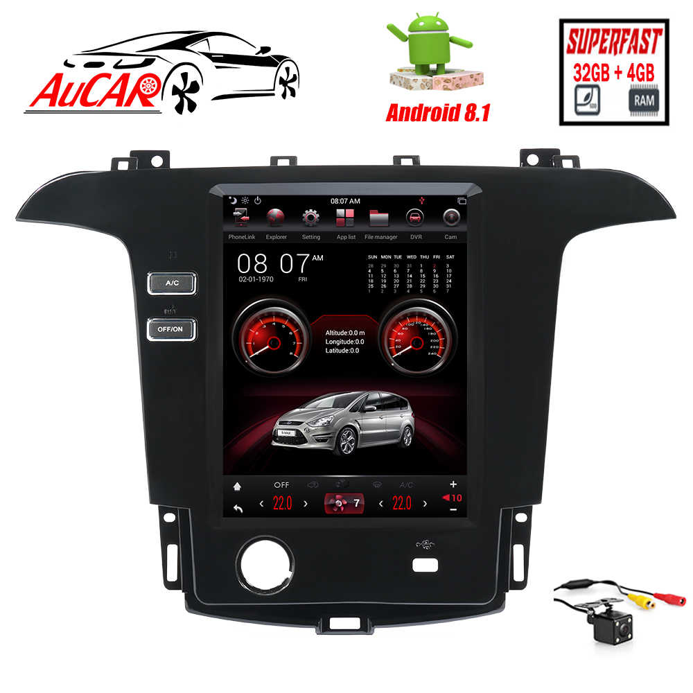 Tesla 8.1 Din Mobil GPS Navigasi Radio untuk Ford Smax/S-MAX/Galaxy 2007-2015 auto Radio Audio Mobil Multimedia Player Stereo