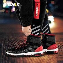 ONEMIX 2019 Men Boots Running Shoes for Women Sneakers High Top Winter Snow Boots Outdoor Waterproof Walking Trekking Sneaker