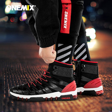 ONEMIX 2019 גברים מגפי נעלי ריצה לנשים סניקרס גבוהה למעלה חורף שלג מגפיים חיצוני עמיד למים הליכה טרקים נעל