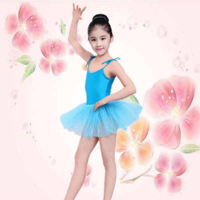 Çocuk kız Toddler bale takım elbise dans elbise jimnastik paten mayoları kostümleri 4 renk kız giysileri