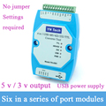 YN4561 6-в-1 Серийный порт Модуль CP2102 USB/485/422/232/TTL взаимное Преобразование Последовательный Порт COM