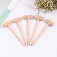 5 pçs martelo de madeira ferramenta de escultura de couro artesanato jóias fazendo martelo ferramenta