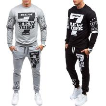 Zogaa New men fashions mens casual suit 2 parts sweatshirts sport pants set solid color clothes 2018 Gym running