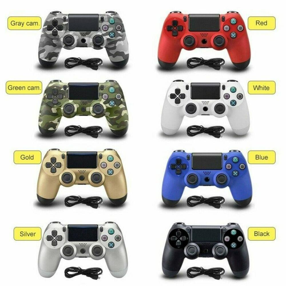 New Design PS4 Controller Joystick 8 Color Micro-USB Port Gamepad For Sony Play Station 4 PS4 Game Console With Charging Cable