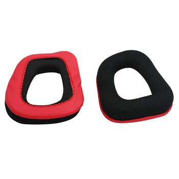 1 Pair of Headphone Sponge Cover for Logitech Earpads for G230 G430 G930 G35 F450 Gaming Headset Black & Red Ear Pads Dpower image