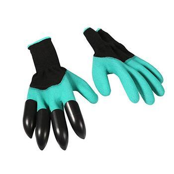 1 para rękawice gumowe ogrodowe z pazurem wodoodporne rękawice ogrodowe sadzenie czyszczenie rękawice ogrodowe G6K2 tanie i dobre opinie KITPIPI 70-100g PGG6578 Średniej grubości RUBBER Ogrodnictwo