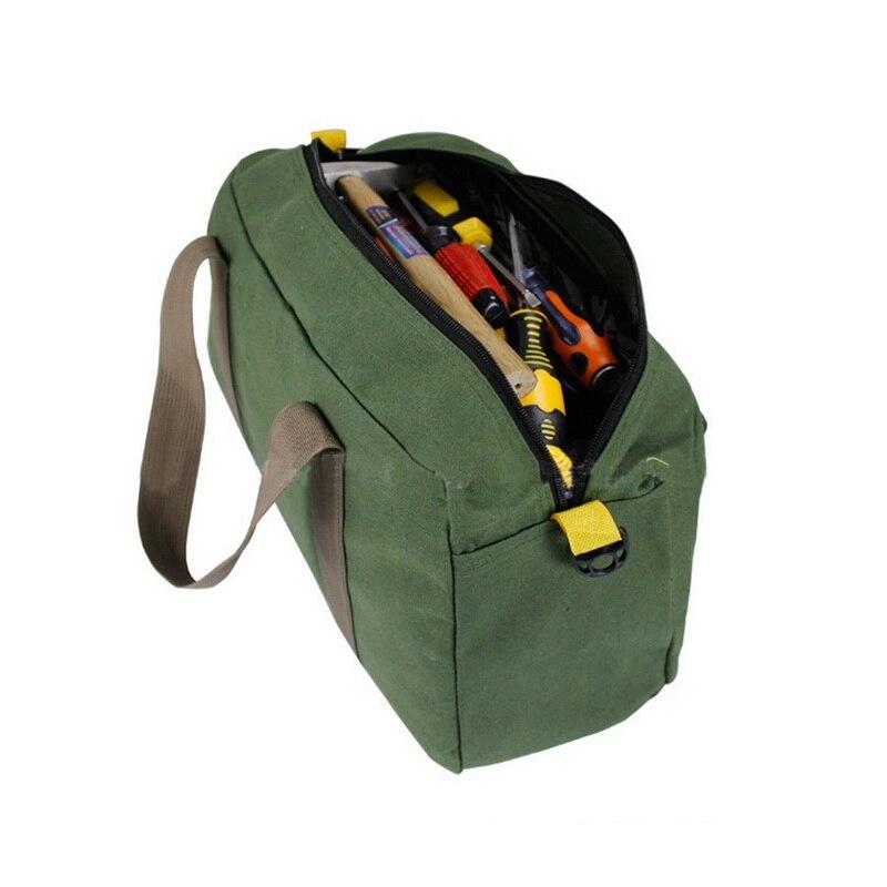 Tool Organizer Multifunction Waterproof Oxford Canvas Hand Tool Storage Carry Bags Portable Pliers Metal Parts HardwareTool Kit
