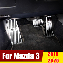 Aluminum alloy Car Accelerator Pedal Brake Pedals Rest Foot Pedal Clucth Pedal Non Slip Cover For Mazda 3 Axela CX-30 2019 2020 foot pedal accelerator