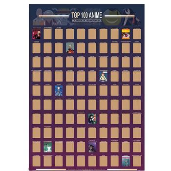 Dekoracja domu Top 100 Anime Scratch Off plakat Anime wiadro lista Premium i artystyczne ikony świetny prezent dla entuzjastów Anime tanie i dobre opinie NONE CN (pochodzenie) Usd Rolka Z tworzywa sztucznego Klasyczny Papieru tapety Salon Pościel pokoju Badania Pokój dla dzieci