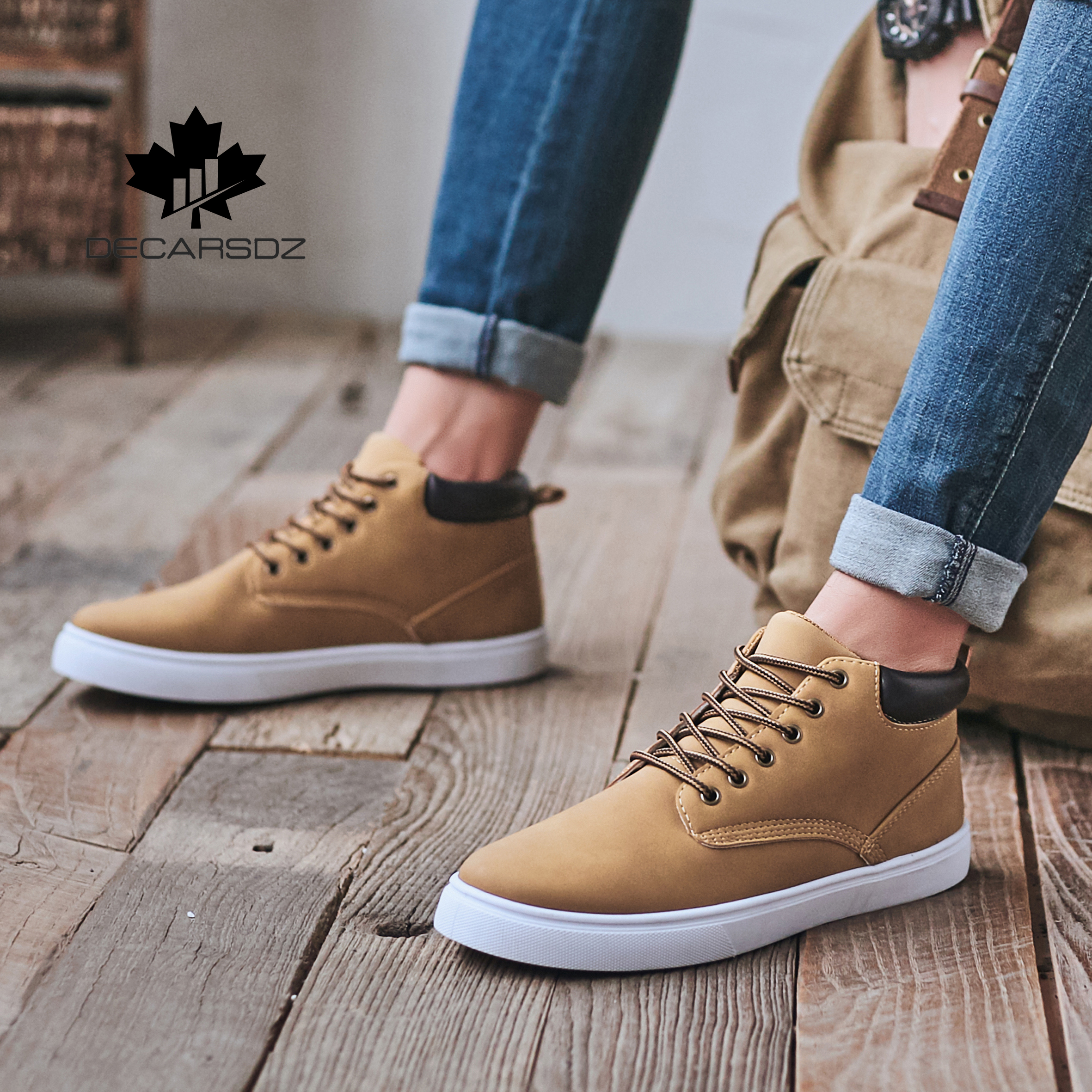 2020 Casual Boots Shoes Man Spring Autumn flat Men Boots Comfy Lace-up Designers Popular Style Basic Boots Men Casual Shoes 2