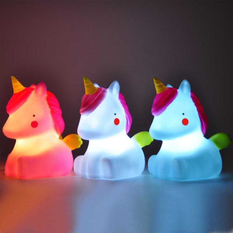 2019 Hot Unicorn Night Light Creative LED Night Lamp Mood Light Cartoon Eyeshield Unicorn Party Lamp LED Light And Toy