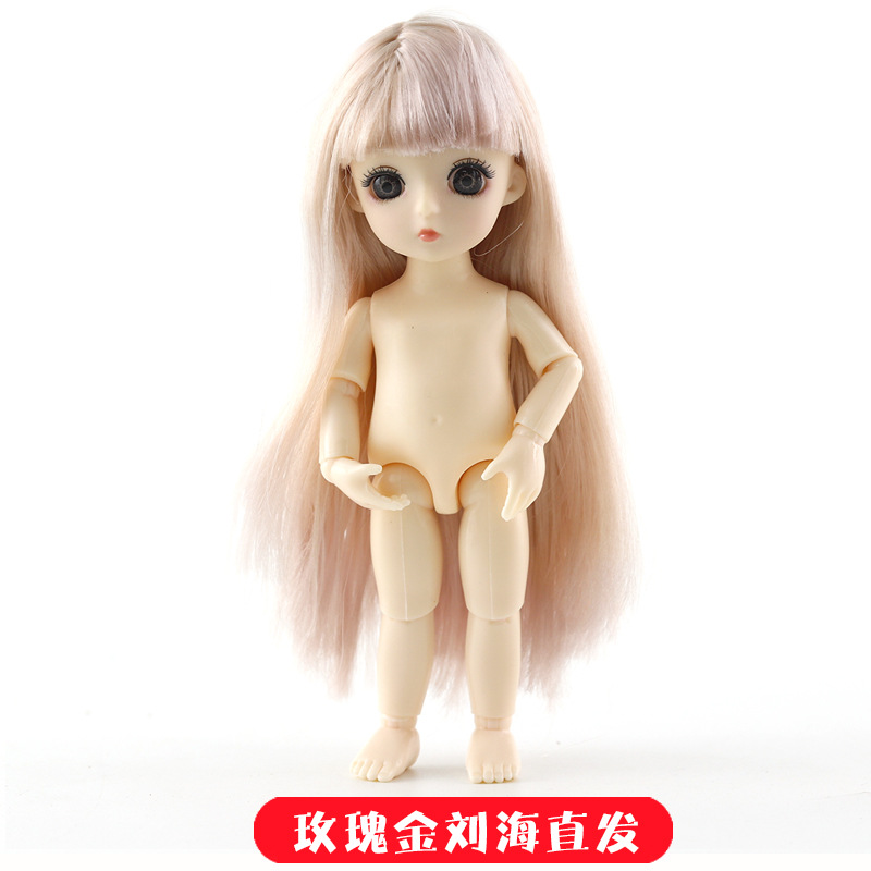16cm 13 Movable Jointed BJD Dolls Toys Mini BJD Baby Girl Boy Doll Naked Nude Body 3D Eye Fashion Dolls Toy for Girls Gift 23