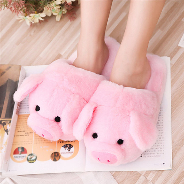 Pink Pig Slippers 1