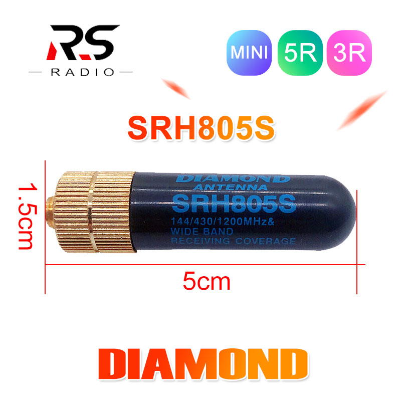 DIAMOND Antenna SRH805S SAM-F For BAOFENG UV-82 3R 5R 9R Dual Band 144/430MHZ Walkie Talkie Outdoor Activity Samll Antenna