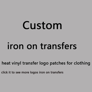 Custom Iron On Transfers For Clothing LOGO Patch Vinyl Transfer Transfers Applique Stickers For T Shirt Brand Logo Patch Badge(China)