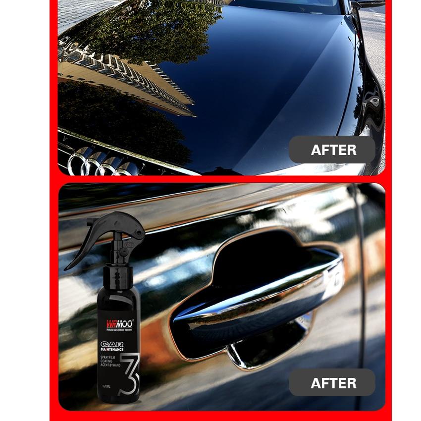 Image 2 - 120ml 9H Car Liquid Ceramic Coating Super Hydrophobic Set Nano Ceramic Car Paint Care Liquid Polysiloxane Oxidation Paint Care-in Paint Protective Foil from Automobiles & Motorcycles