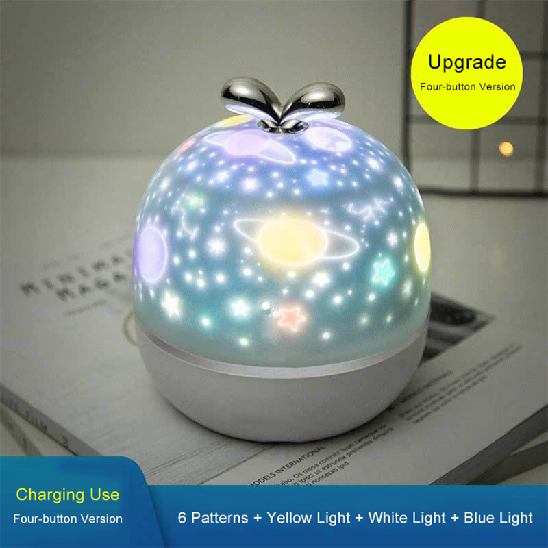 Star Projector Night Lights with Bluetooth Music Galaxy Light Bedroom Decoration LED Atmosphere Lamp Kids Baby Gift Projection