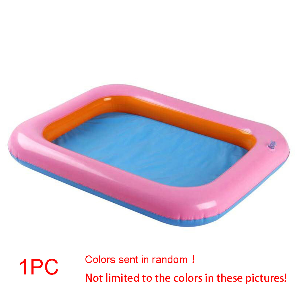 Kids Storage Table Pool Toy Easy To Clean Thicker Inflatable Large Castle Sand Bo60*45cm Indoor Outdoor Toy Color Random #11