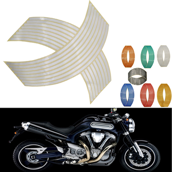 16Pcs Motorcycle Car Wheel Tire Stickers Reflective Rim Tape Moto Auto Decals For BMW f 800 gs Adventure F800R F800S image