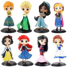 19 estilos disney princesa q posket congelado rainha elsa & anna figura brinquedos pvc anime bonecas figuras collectible modelo crianças brinquedos presente