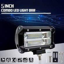Carritos LED para coche todo terreno 72W 5 pulgadas luz de trabajo SUV motocicleta ATV camión 4×4 accesorios