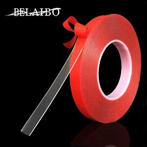 Image 1 - 3M Vermelho Transparente de Silicone de Alta Resistência Dupla Fita Adesiva Frente E Verso Etiqueta Para Carro Sem Vestígios Adesivo Adesivo Sala de Mercadorias