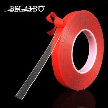3m kırmızı şeffaf silikon çift taraflı bant Sticker araba için yüksek mukavemetli hiçbir izleri yapışkanlı etiket yaşam ürünleri