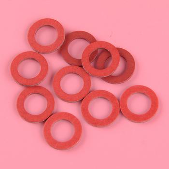 DWCX 10 sztuk plastikowa dolna jednostka do spuszczania oleju uszczelka śrubowa czerwone dopasowane do Yamaha 90430-08020-00 90430-08003 akcesoria tanie i dobre opinie Plastic 90430-08020-00 90430-08003 for 1984 and Newer Yamaha Models and Components