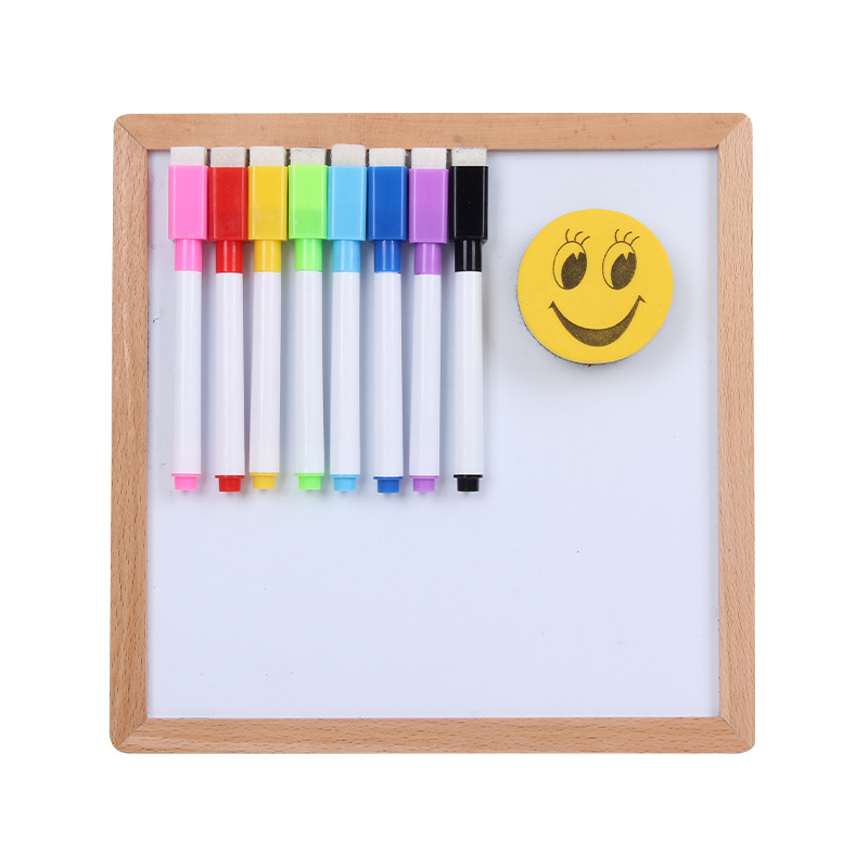 Children Small Drawing Board Graffiti Writing Whiteboard Portable Double-Sided Magnetic Wooden Educational Science Message Calli