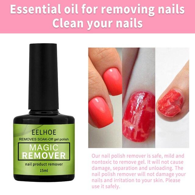 15ml Magic Burst Nail Gel Remover UV Gel Remover Fast Manicure Semi Permanent Nail Polish Soak Off Remover Polish Dropship 4