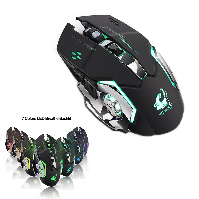 Rechargeable Silent gaming mouse mice 2.4g USB Optical Ergonomic Wireless Mouse PC Computer Mouse For imac pro macbook laptop