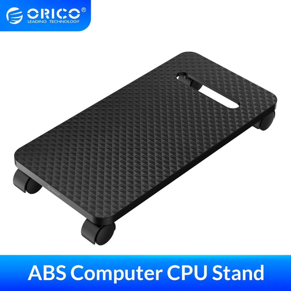 ORICO ABS Computer CPU Stand with Wheels for Computer Cases PC Towers Waterproof CPU Holder Black(China)