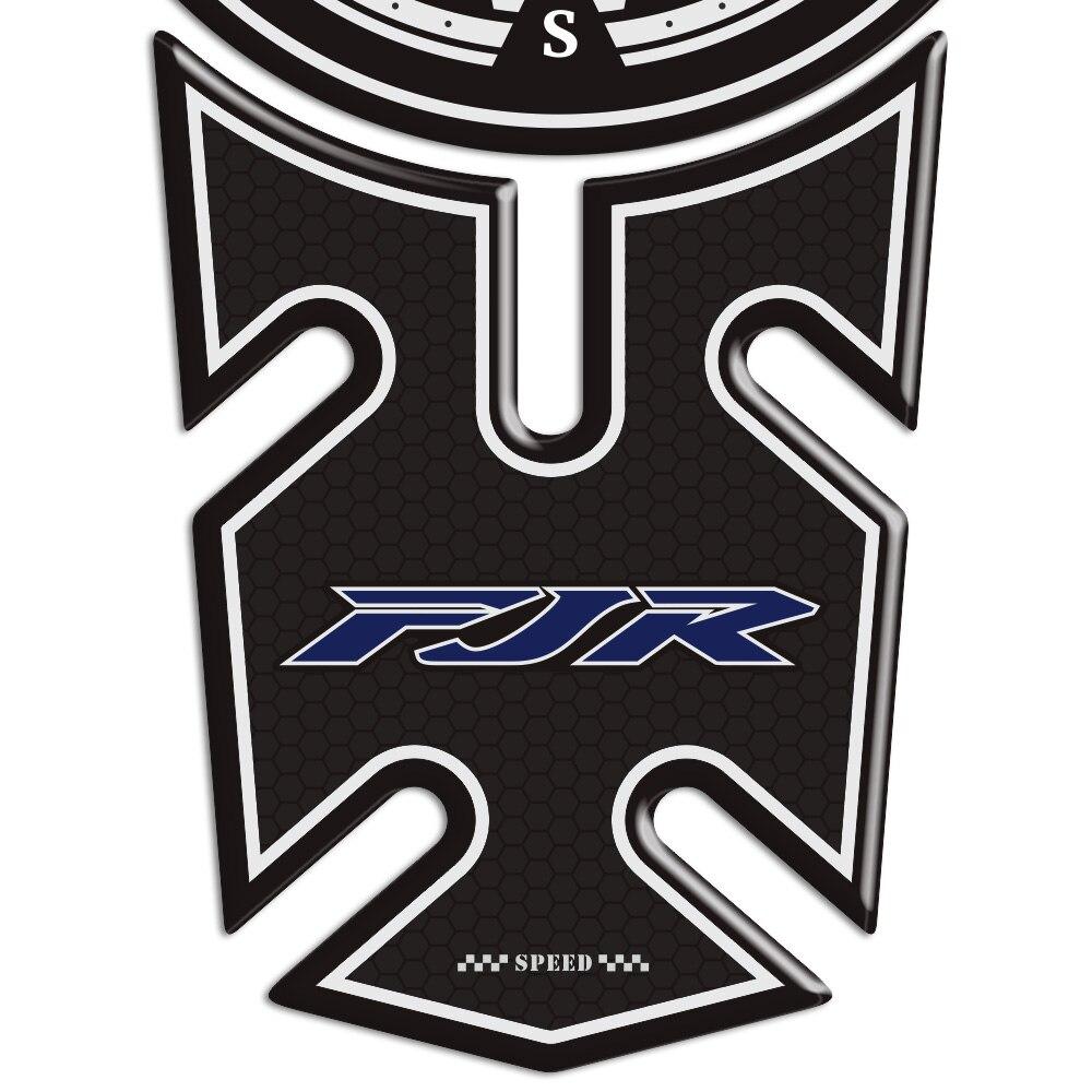 Pegatinas de motocicleta para Yamaha FJR1300 FJR 1300 Protector de tanque 3D pegatina calcomanía Gas combustible antideslizante aventura De taza de aceite para Yamaha dt125 xt600 fjr1300 tdm850 xmax300 ybr125 aerox yz250f r1 2004 dt yz250 mt03 raptor700 fz16 bws